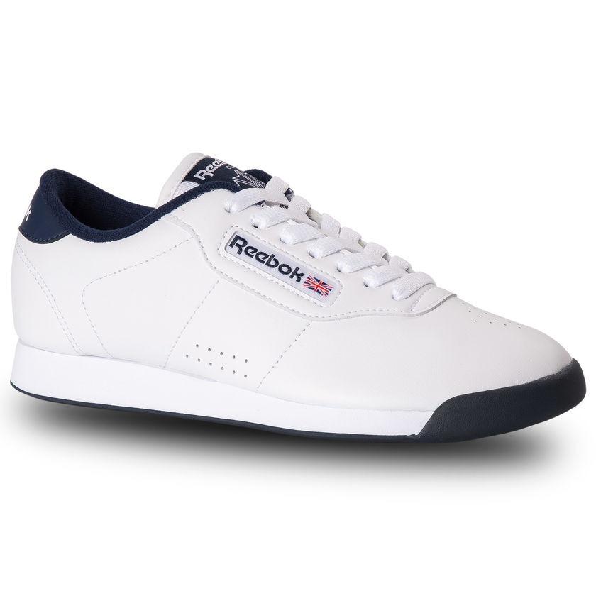 3aec15ab77a Tenis Reebok Classic Princess Blanco Con Azul -   975.00 en Mercado ...