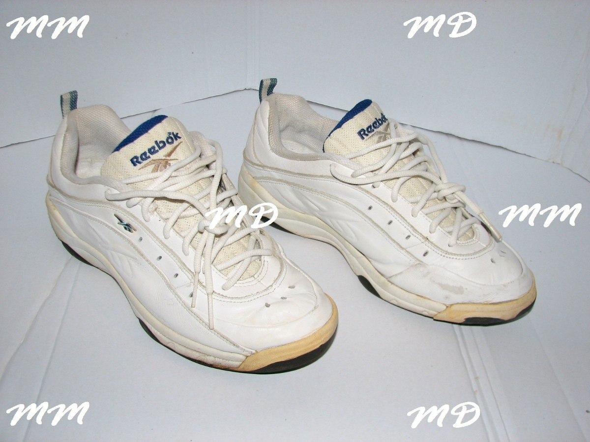 tenis reebok couro legitimo cor branco e azul originals ! ! Carregando zoom. 80a8904435b4c