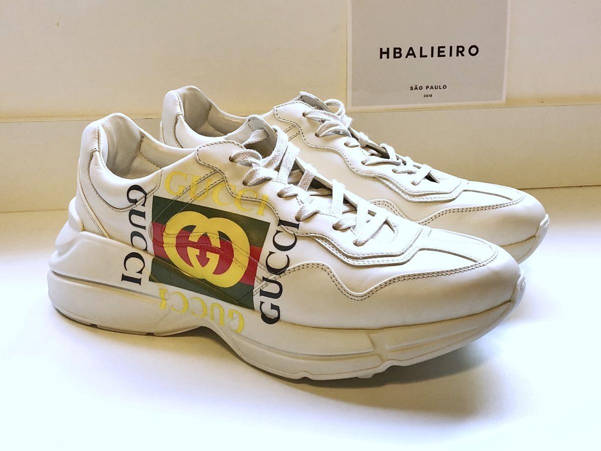 tenis rhyton com logo gucci fake sneaker dadshoes novo. Carregando zoom. c0bae47ae06