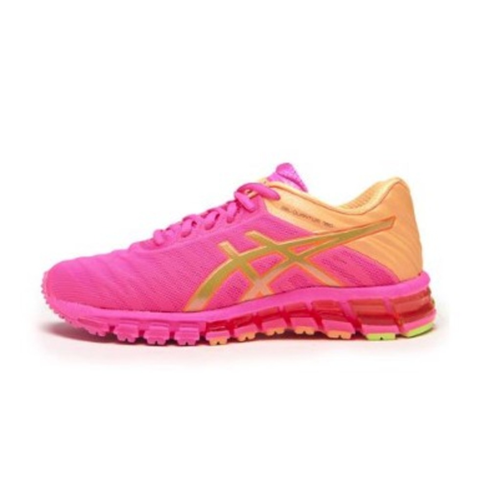 d50dd8a2d79 tenis run asics feminino gel quantum 180 rosa e laranja. Carregando zoom.