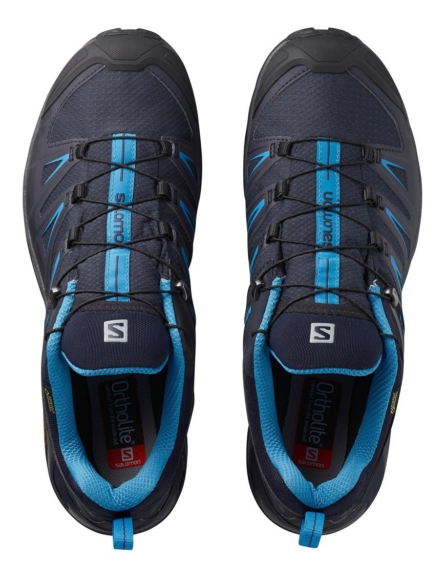 Tenis Salomon Hombre Senderismo X Ultra 3 Gtx Running Azul