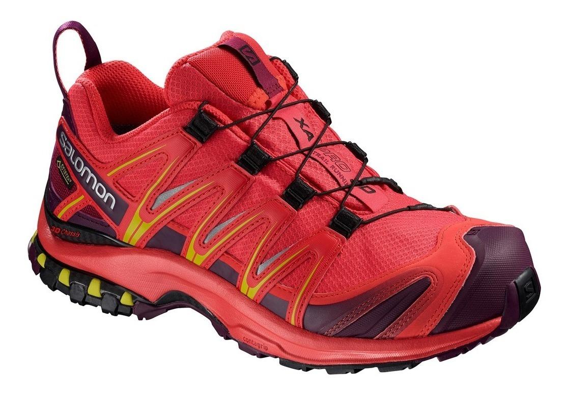 Rojo Xa Off Mujer Running 3d Salomon Trail Pro Tenis Gtx 7gbf6y