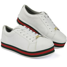 3f105be904 Tenis Plataforma Vermelho Sapatos - Sapatos para Feminino no Mercado ...