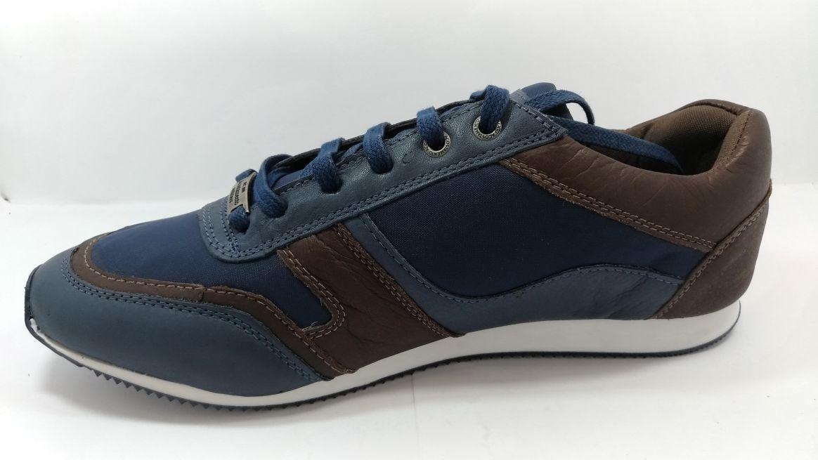51868708a9a tenis sapatenis 43 azul marinho acostamento nylon e couro. Carregando zoom.