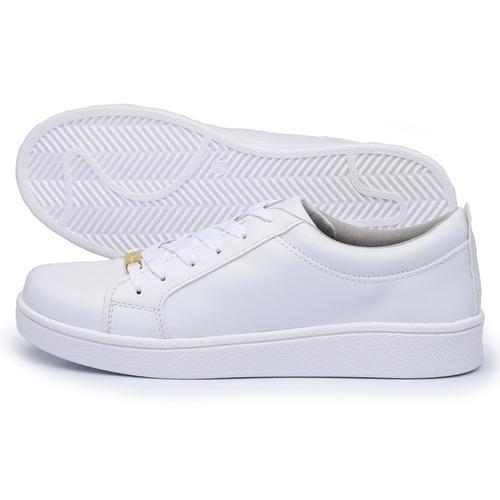 tenís sapatenis  casual feminino branco  estilo vizzano bota