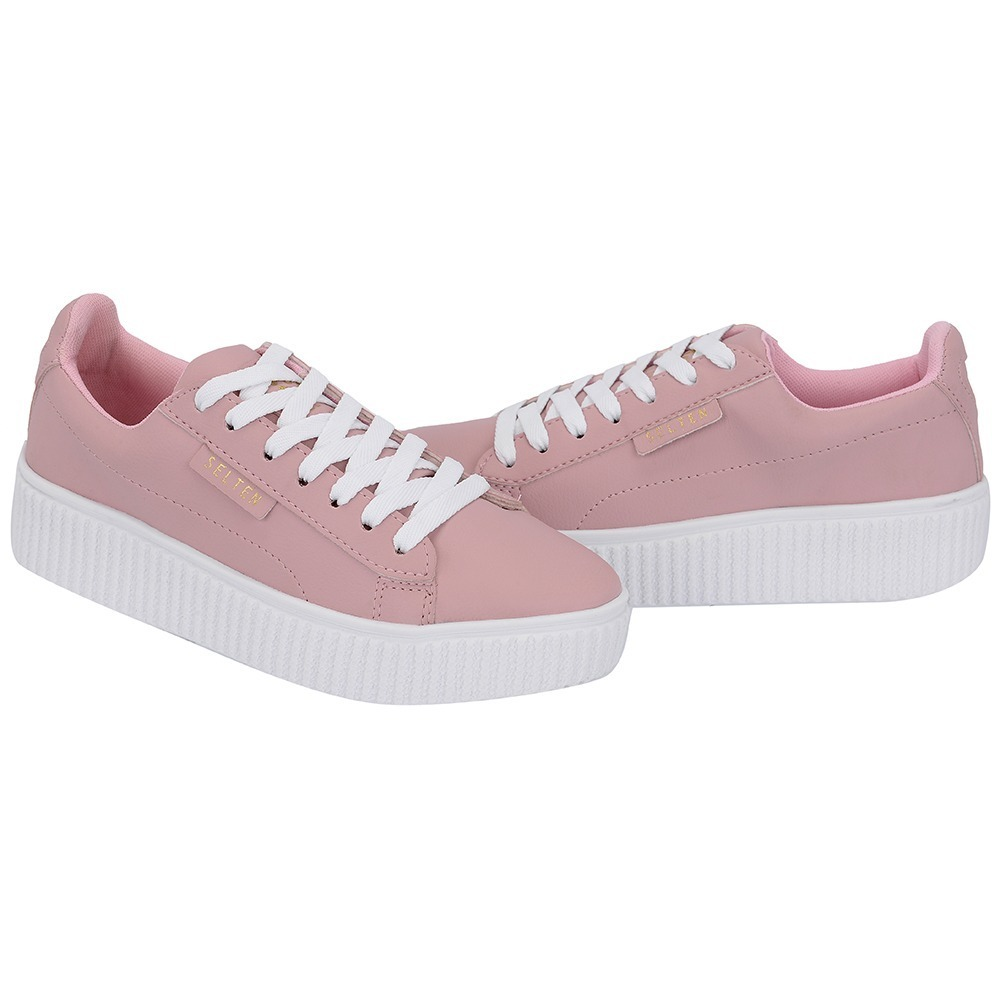 tenis sapatenis feminino academia casual skate rosa bebe. Carregando zoom. 2d53d7aa208b4
