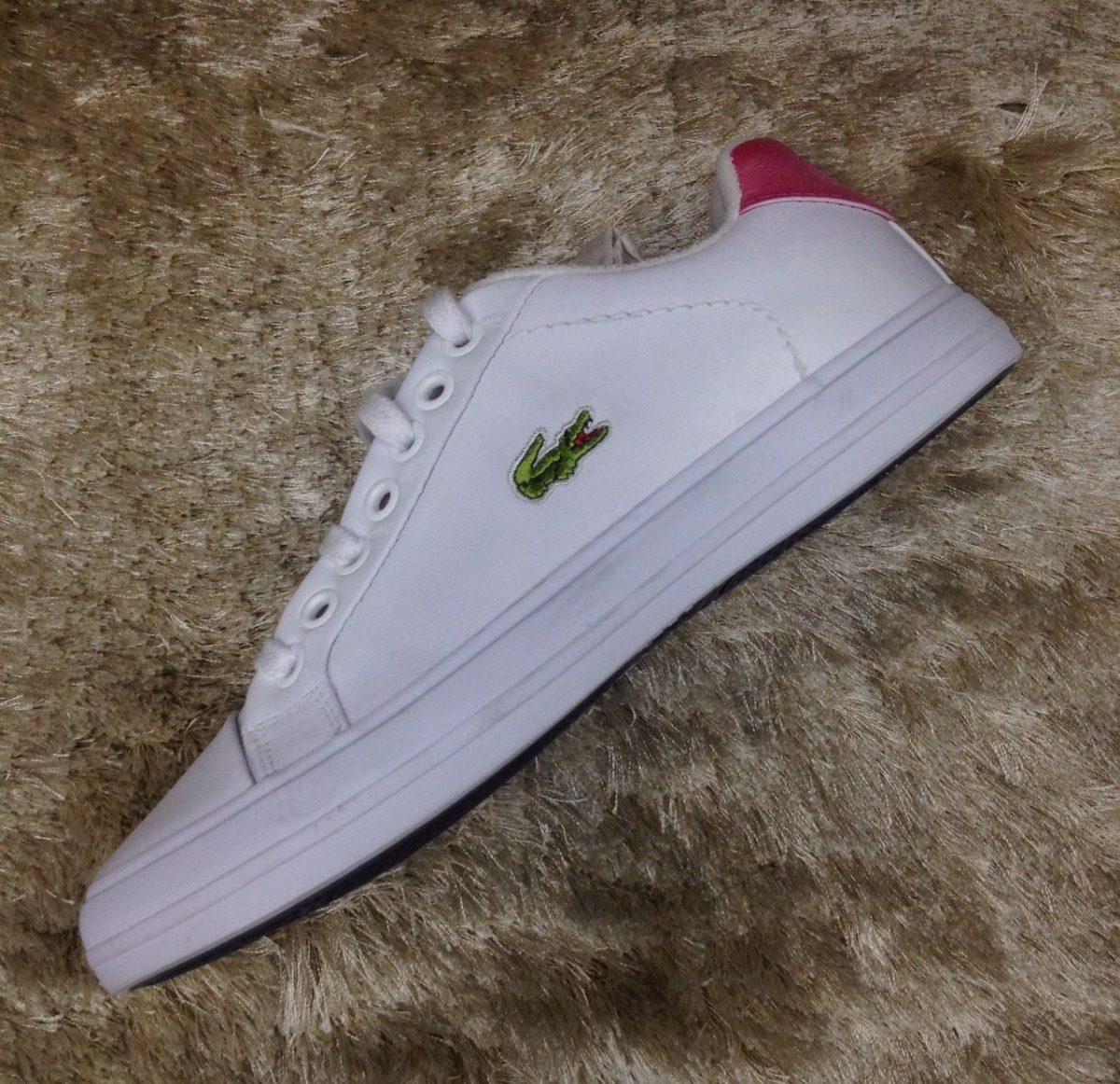 62373f6c7fb44 tenis sapatenis lacoste branco rosa claro feminino original. Carregando  zoom.