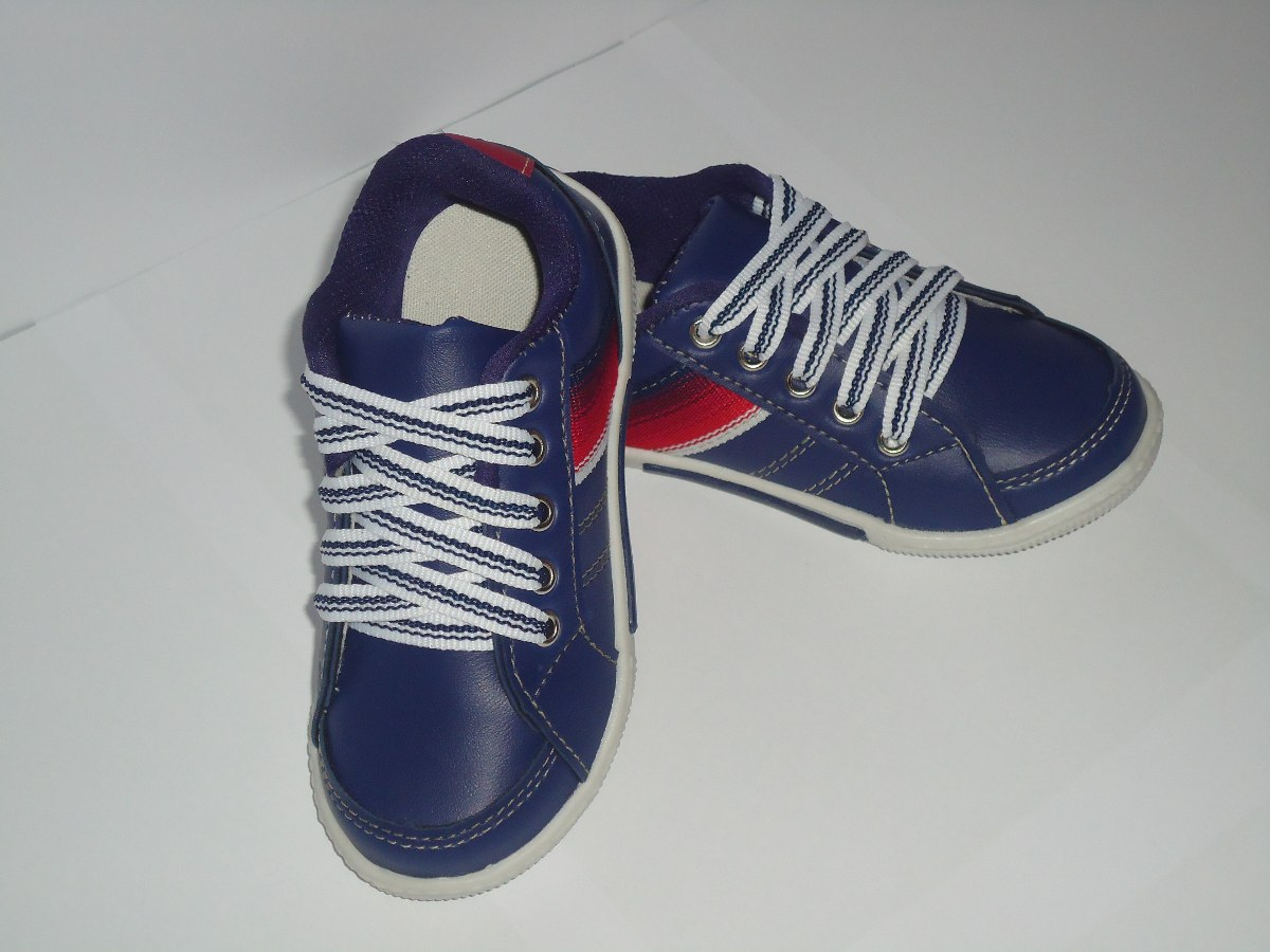 725add6b9d1 Tenis Sapatenis Menino Masculino Azul Infantil Promoção 263 - R  39 ...