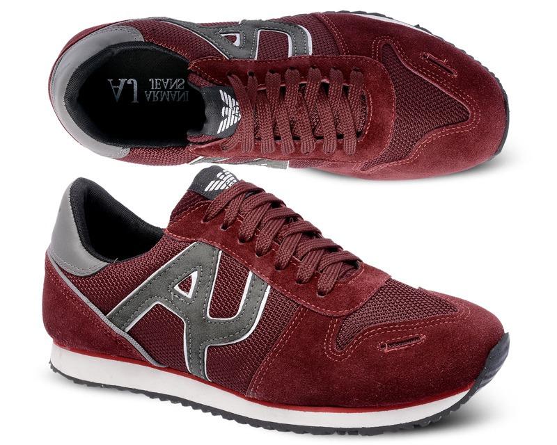 b3c33741f Tenis Sapatenis Sapato Armani Jeans Aj Vinho - R$ 118,90 em Mercado ...
