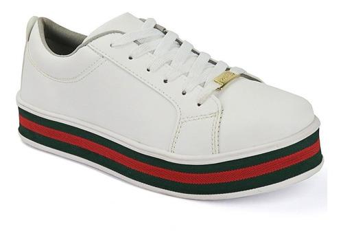 tenis sapatênis feminino tecido sola alta flatform cores