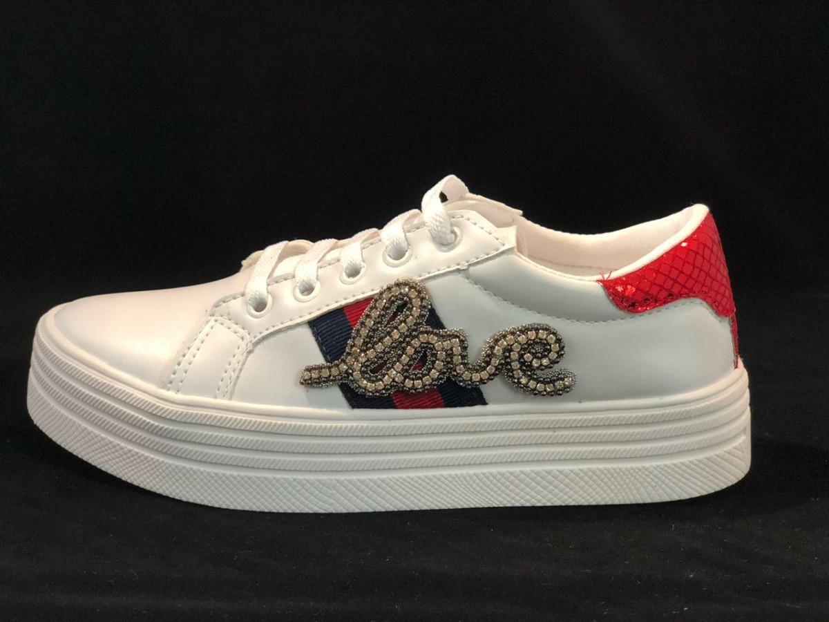 17aa1c2e5 Tenis sapato plataforma feminino love branco la verona carregando zoom jpg  1200x900 Tenis plataforma sapatos