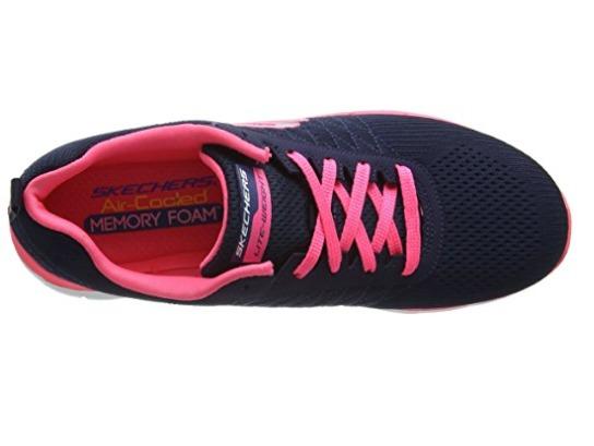 Tenis Skechers Azul Marino Zapatillas De Deporte Mujer 2017