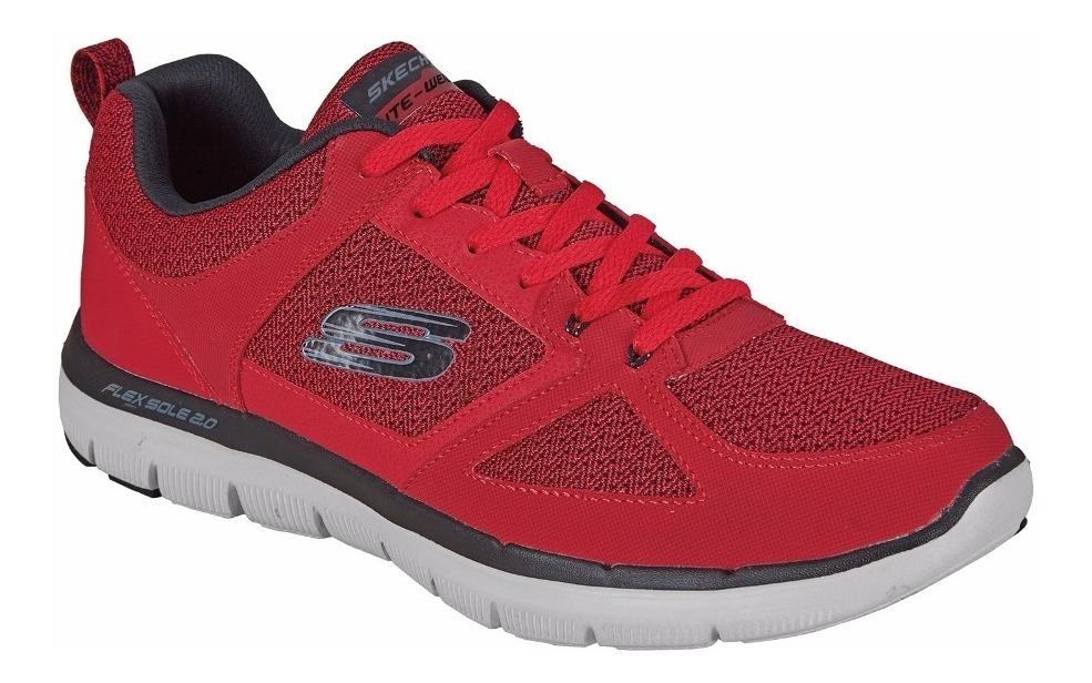 Tenis Skechers Deportivos Color Rojo Para Hombre