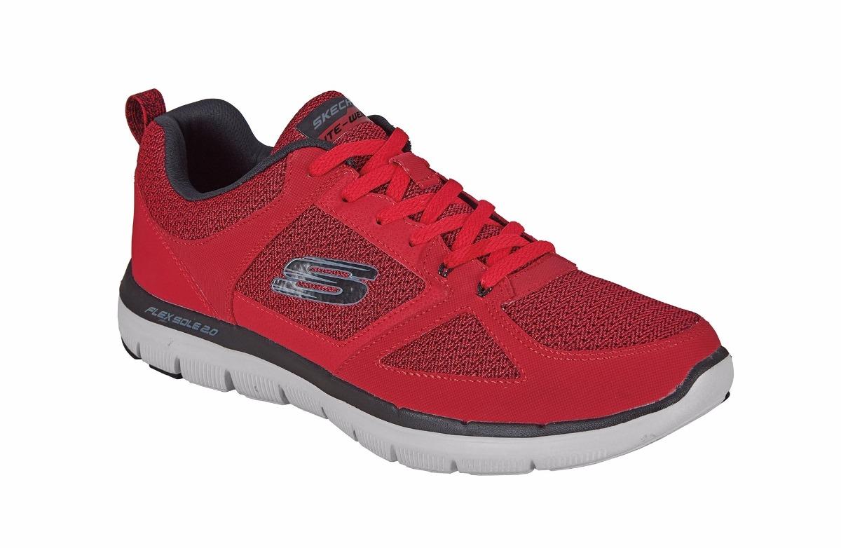 1e27cfc5280b3 tenis skechers deportivos color rojo para hombre. Cargando zoom.