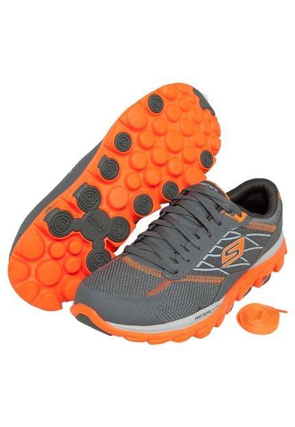 67b6e4a6d0 Tenis Skechers Go Run Ride 2 Cinza laranja Original Nº 41 - R  499 ...