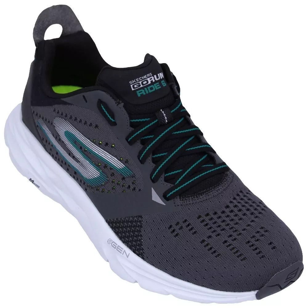 tenis skechers go run ride 6 cinza original com nota. Carregando zoom. aac7a2d68b91d
