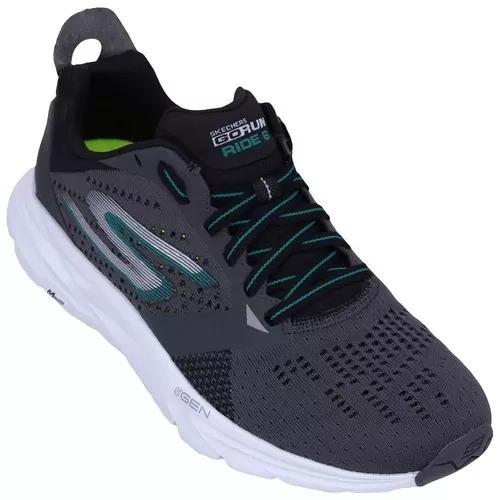 Tenis Skechers Go Run Ride 6 Cinza Original Com Nota - R  399 315e8933fed2f
