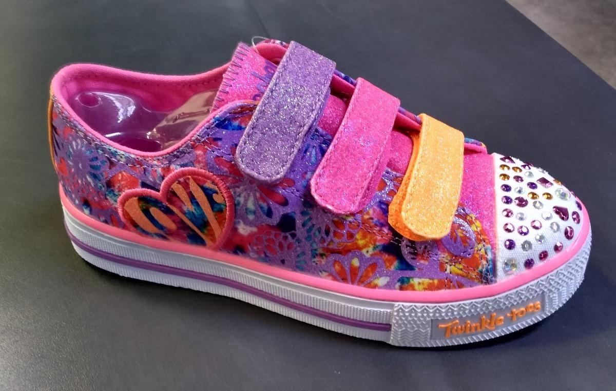 San Francisco volumen grande mejores zapatillas de deporte Tenis Skechers Niña Luces Led!! Envío Gratis!! 10630 Lav