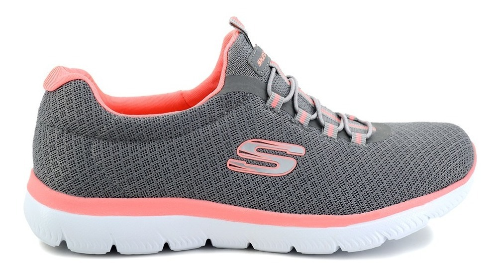 Tenis Skechers Para Dama 12980 Gris [ske208]