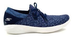 25f94242 Tenis Skechers Para Dama 14964 Azul Marino [ske172]