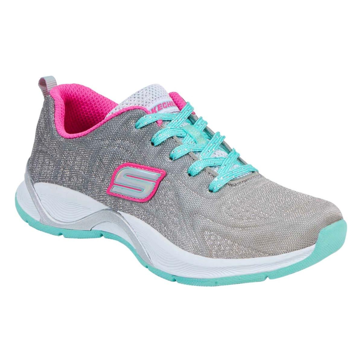 e16f490a48e tenis skechers para niña rosa aqua gris. Cargando zoom.