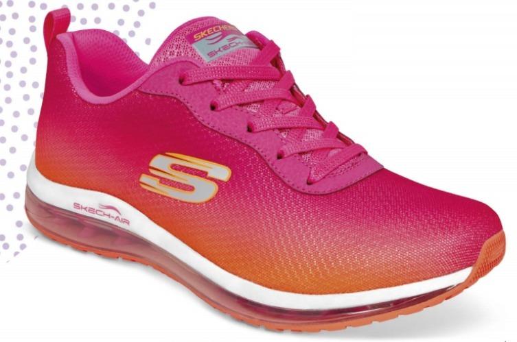 fad0bca522d Tenis Skechers Skech Air Color Naranja Fiusha Mujer Original ...