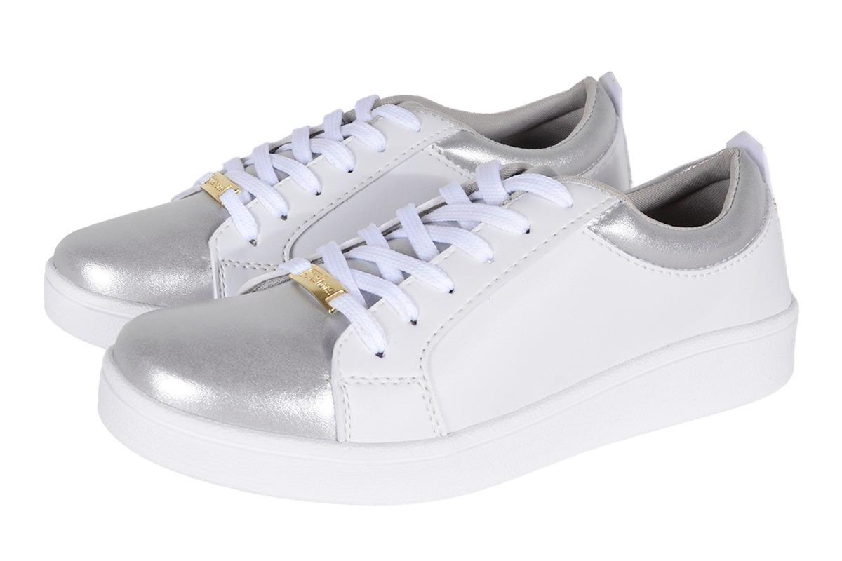 27b6937a108 tenis slip on branco ponteira prata dourado moda fashion. Carregando zoom.