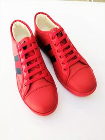 d56e002c8 Tenis Sneakers Gucci Rojos (envio Gratis)