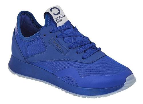 tenis sneakers mujer casual urbano monocolor azul rey comodo