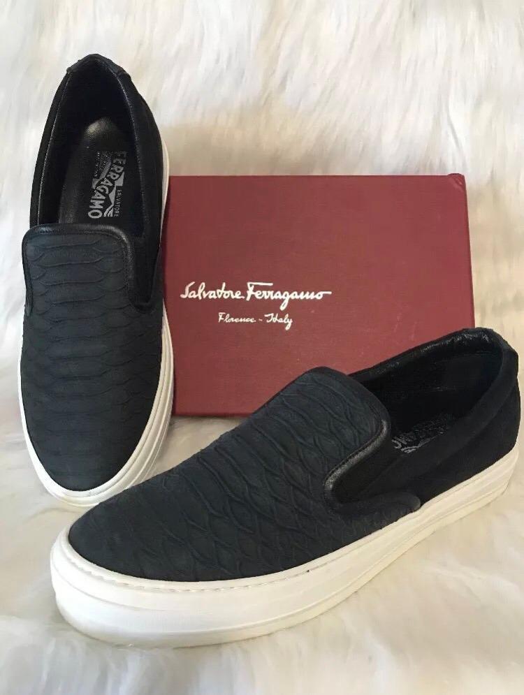 Tenis Sneakers Salvatore Ferragamo Piel Negros Nuevos -   4,999.00 ... 3ffd13a6eb