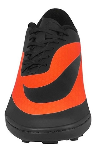 tenis soccer caballero 599844008 simipiel naranja negro