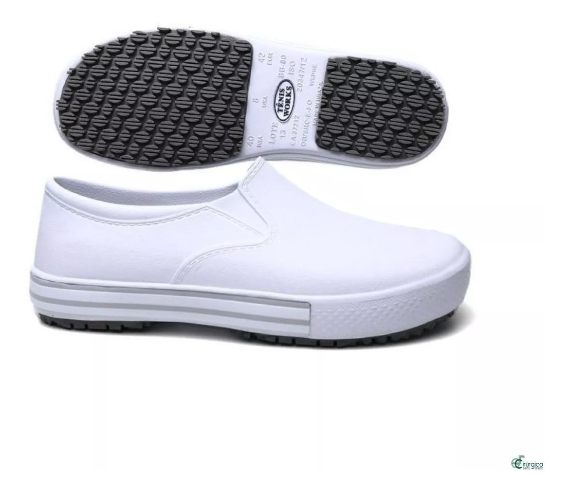 78f811b83 Tenis Soft Works Bb80 Sapato Cozinha Hospital Enfermagem - R$ 69,00 ...