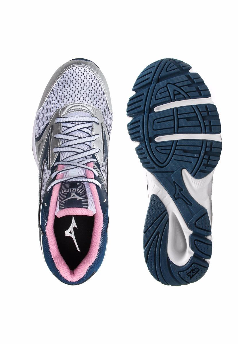 cff8c296a5c tenis strike n mizuno feminino prata com rosa e azul. Carregando zoom.