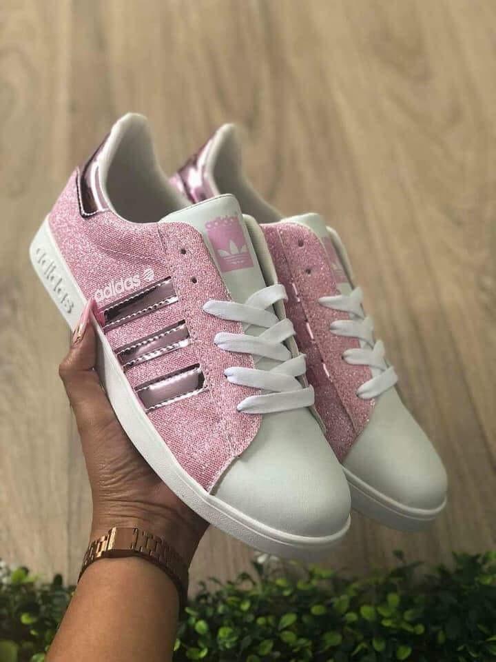 adidas neo rosas