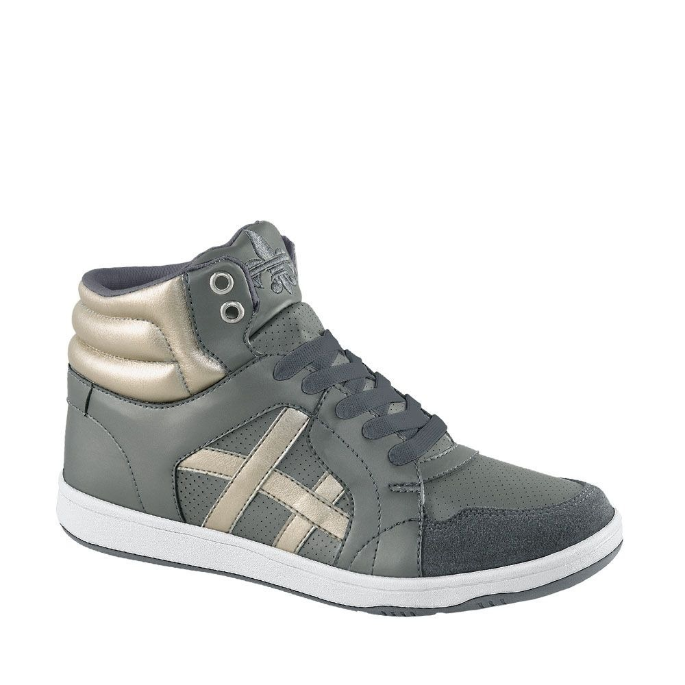 bdb73346aa3f3 tenis tipo bota para mujer urban gris sintetico up222 a. Cargando zoom.