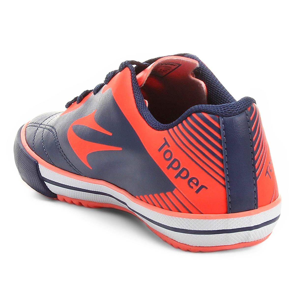 Tenis Topper Futsal 02 2018 Frontier 8 Mho fluor bco - R  89 f9d20600ed215