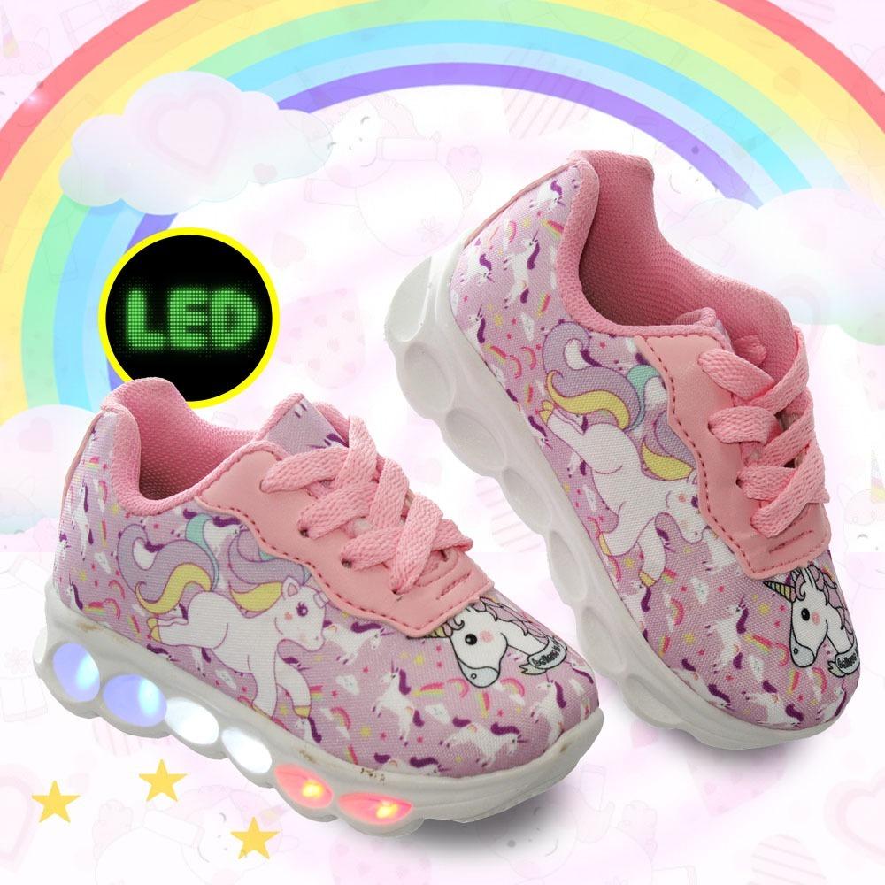 1470e5c234 ... fc836be8959 tenis unicornio de led luz luzinha infantil feminino  meninas. Carregando zoom.