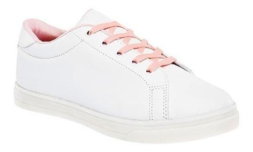 tenis urbano dama been class 0937 blanco rosa  22-26 t4*