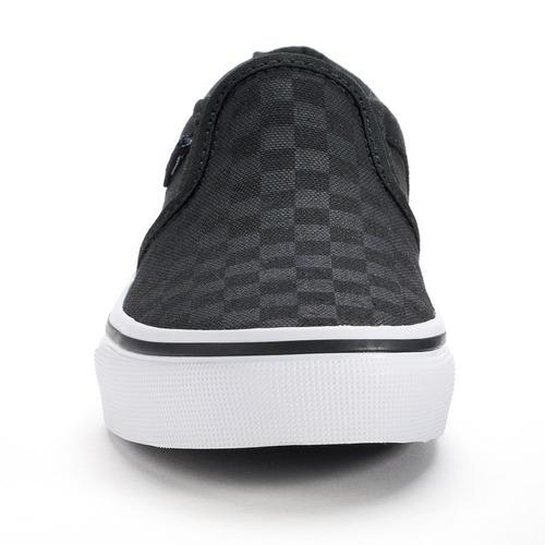 87626650ff Tenis Vans Asher Checkered Skate Shoes Black Vn-0seq542 -   849.00 ...