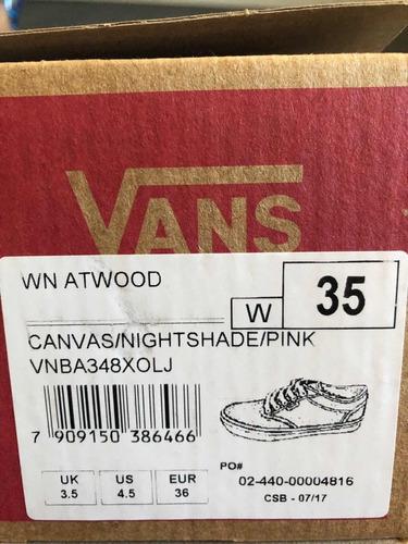 tenis vans atwood canvas roxo