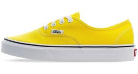 tenis vans mujer amarillos
