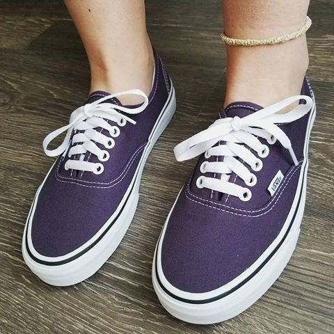 tenis vans authentic azul violeta skate