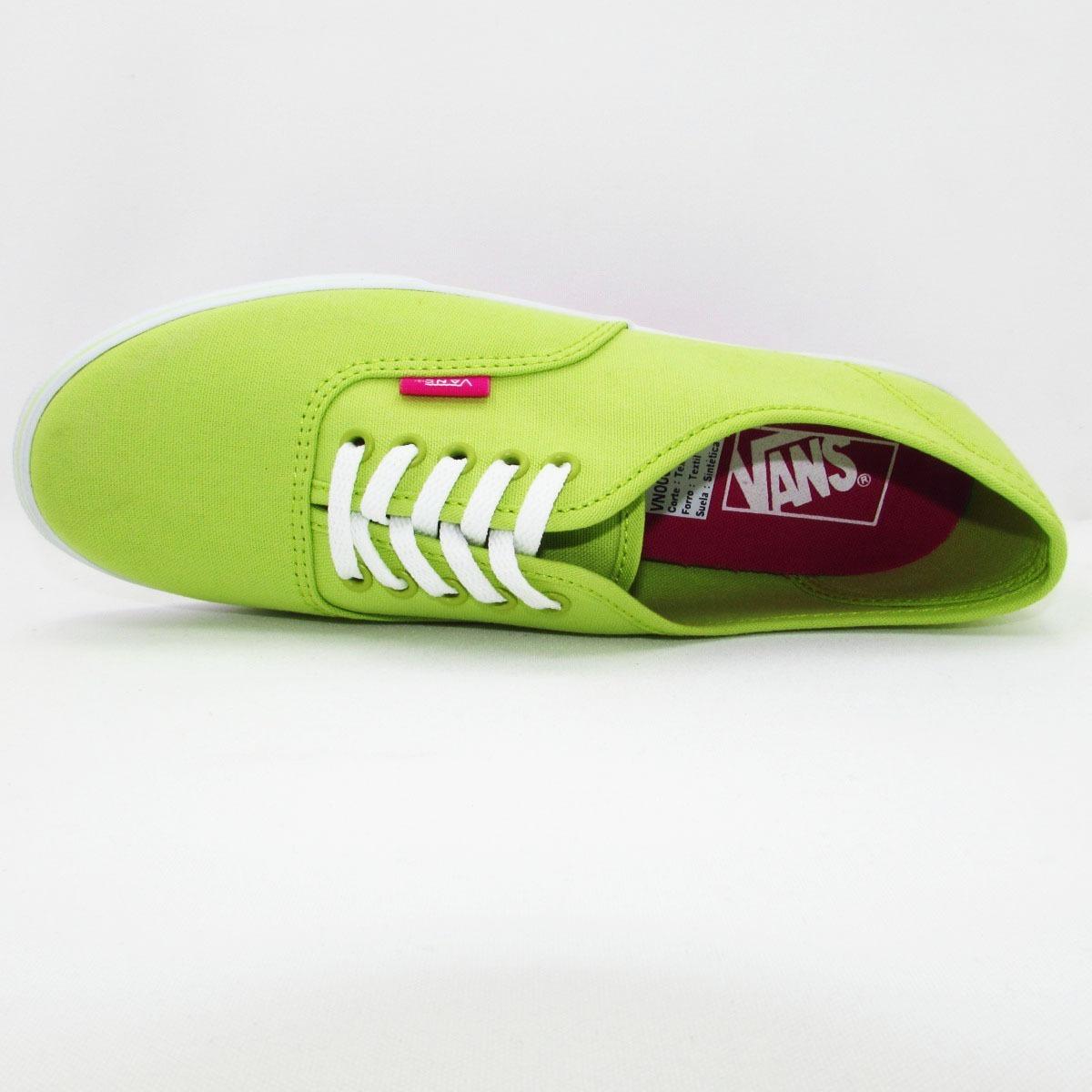 ae8da9022a3 tenis vans authentic lo pro vn0004mmjq6 canvas green glow li. Cargando zoom.