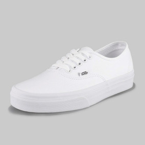 Tenis Vans Authentic True White Modelo Vn000ee3w00 Color Blanco Blanco Talla 27 100% Originales Envio Gratis