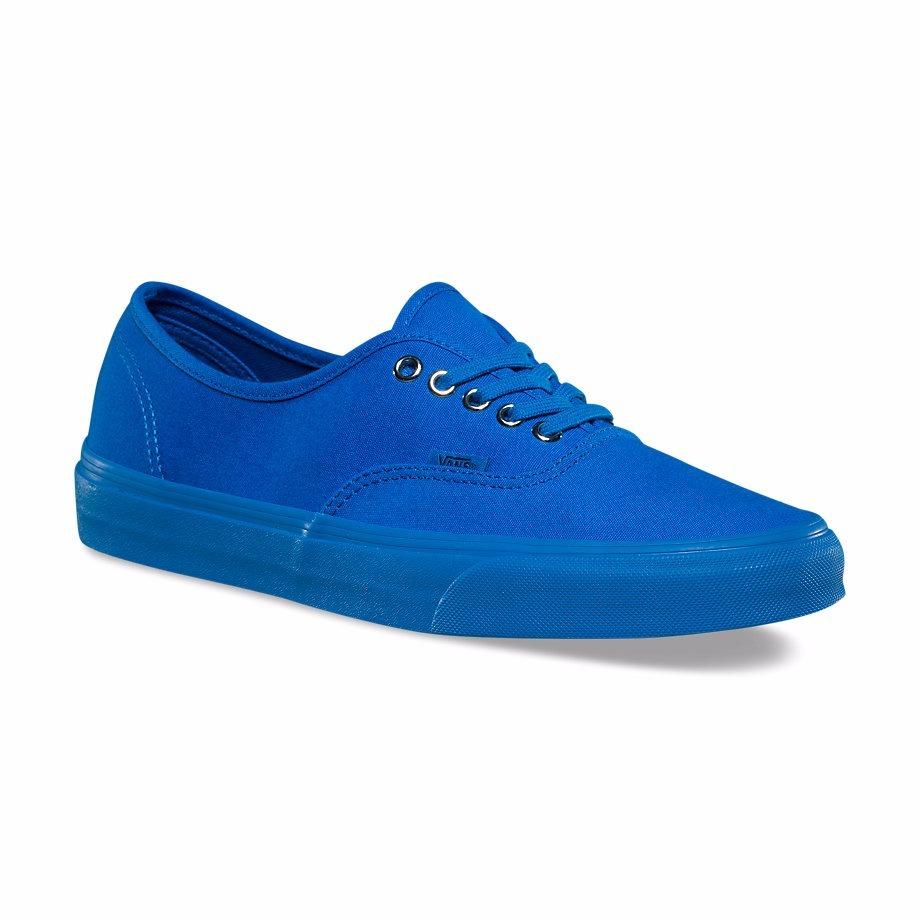 vans azules mujer