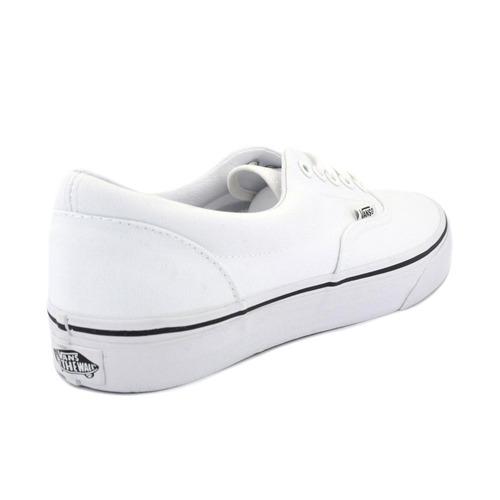 tenis vans blanco, negro originales unisex era