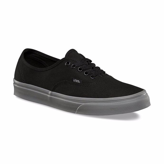 zapatos vans gris con negro