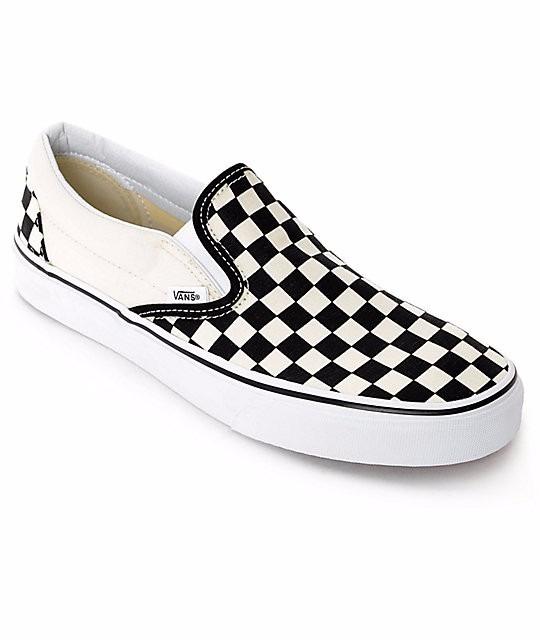 Tenis Vans Classic Slip On Checkerboard Beige   Negro -   999.00 en ... 33209c384e0b4