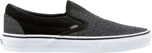 tenis vans classic slip on suede & suiting gris look trendy