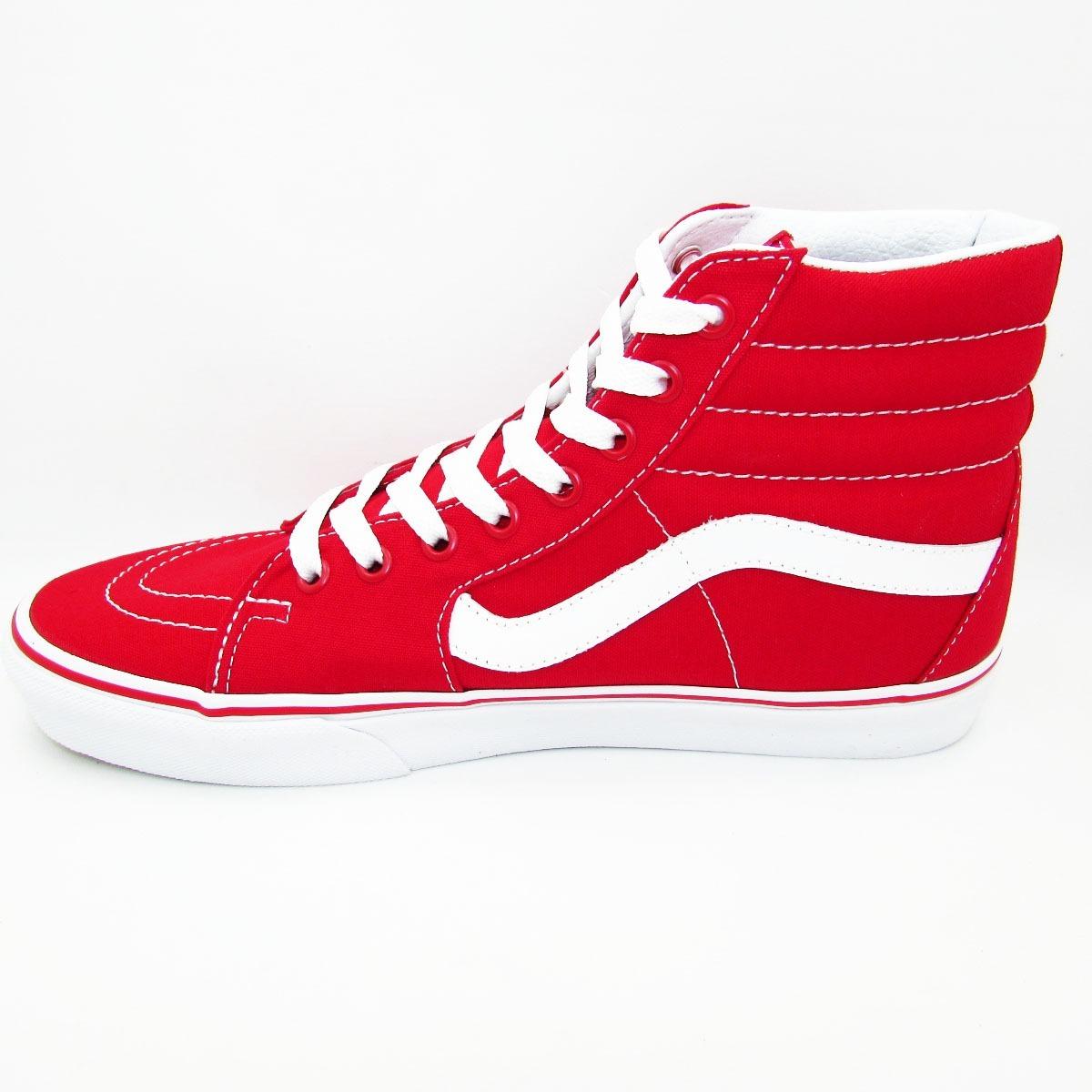 Vans SK8 Hi Canvas rojo